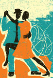 Two people dancing the tango Stock Images