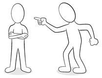 Two people are of different opinion. Vector illustration of two people are of different opinion Stock Photography