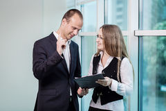 Two People Discussing Business Issue close up,Businesspeople hav. Ing an argument in an office,Business People Meeting Conference Discussion Corporate Concept Stock Photos