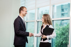 Two People Discussing Business Issue close up,Businesspeople hav. Ing an argument in an office,Business People Meeting Conference Discussion Corporate Concept Royalty Free Stock Photo