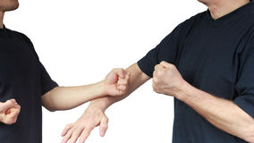 Two people are doing techniques Wing Chun Royalty Free Stock Photography