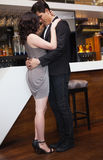 Two people are flirting and dancing Royalty Free Stock Images