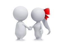 Two People Handshake Royalty Free Stock Image