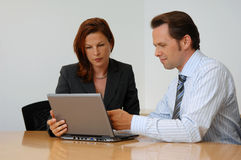 Two People at a Business Meeting Stock Photos