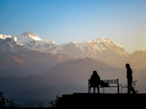 Two People In the Himalayas Stock Photos