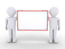 Two people are holding a blank sign Stock Image