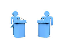 Two people near stage Royalty Free Stock Photos