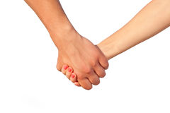 Two people's hands Stock Photography