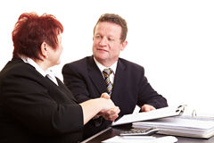 Two people sealing deal Stock Photos
