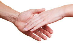 Two people shaking hands Stock Images