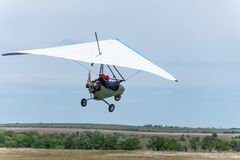 moto hang-glider Stock Photos