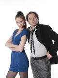 Two people together. Man and woman confidently look forward Royalty Free Stock Photography