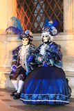 Two people in Venetian costume Stock Photography