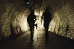 Free Two People Walking In The Tunnel Royalty Free Stock Photography - 42894867