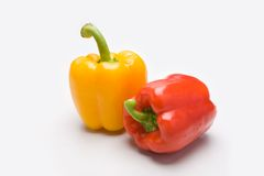 Two peppers Royalty Free Stock Photo
