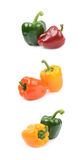 Two peppers isolated Stock Image