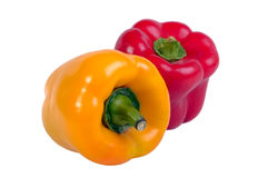 Two peppers Stock Images