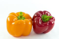 Two peppers Stock Photos