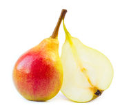 Two perfect wet pears Royalty Free Stock Image
