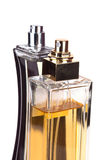 Two perfume bottles. Isolated on white background Stock Photo