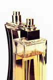 Two perfume bottles isolated on white Royalty Free Stock Images