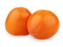 Two persimmons Royalty Free Stock Images