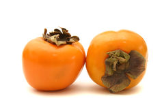 Two persimmons Stock Photo