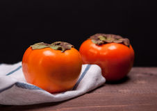 Two Persimmons Royalty Free Stock Photos