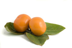 Two  persimmons Royalty Free Stock Photography