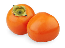 Two persimmons Stock Photography