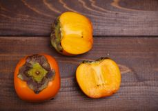 Two persimmons Royalty Free Stock Image