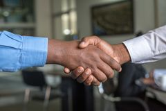 Two Person Hand Shaking royalty free stock photo