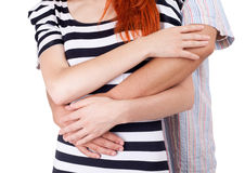 Two person hugging each other Royalty Free Stock Photography