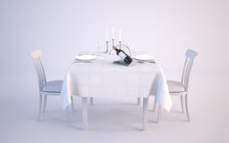 Two Person Served Table Royalty Free Stock Image