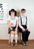 Two person wearing spectacles Royalty Free Stock Photography