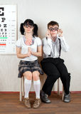 Two person wearing spectacles Stock Photo