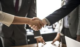 Two Persons Hand Shake royalty free stock image