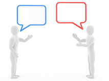 Two persons talk. Carry on negotiations Royalty Free Stock Images