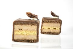 Two Petits Fours Royalty Free Stock Images