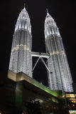 Two petronas towers at night. With light. Kuala Lumpur (Malasia Stock Image