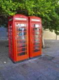 Two phone booths Stock Photo