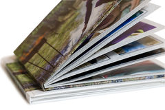 Two of photo album on white background. royalty free stock photo