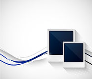 Two photo frame on wavy background Stock Images