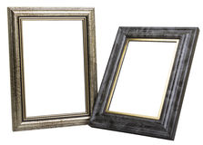 Two photo frames isolated on white background.  Stock Image