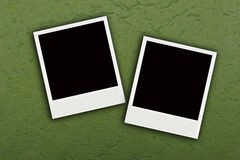 Two Photo on green mulberry paper Stock Photos