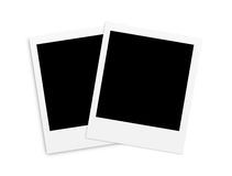 Two photo papers polaroid card isolated on white Royalty Free Stock Photo