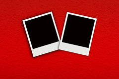 Two Photo on red handmade mulberry paper Stock Photography