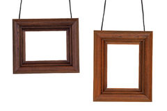 Two photographic frame on the cord Royalty Free Stock Photo