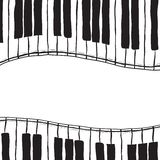 Two piano keys - sketch style Stock Photography