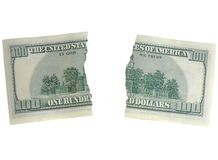 Two pices one hundred dollers Royalty Free Stock Image